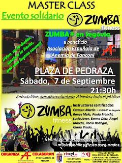 ZUMBA en Segovia. Evento Solidario Pedraza