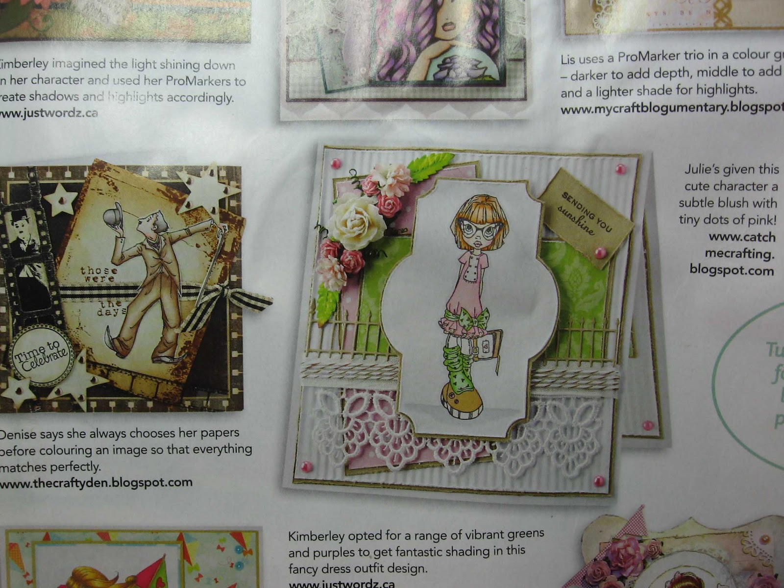 Catch Me Crafting: My card in this month's Papercraft Inspirations