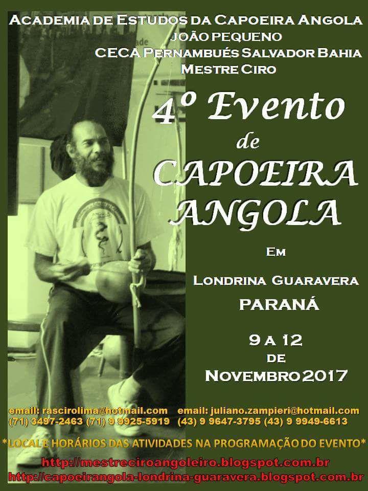 4º Evento de Capoeira Angola con el Mestre Ciro