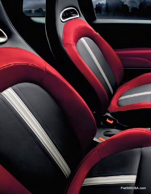 Fiat 500 Abarth Katzkin Leather Interior