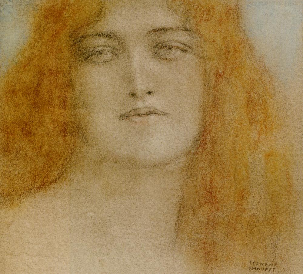 Fernand Khnopff study woman
