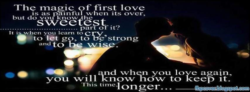 magic of first love quote fb timeline cover