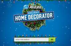arjetas de navidad con una foto de tu casa decorada utilizando Google Street View: Allstate Holiday Home Decorator