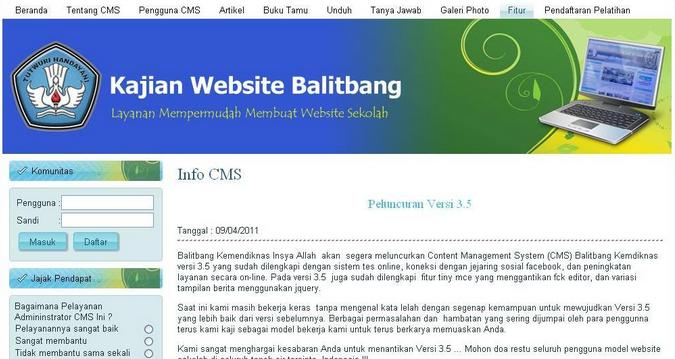 Hati-Hati Menggunakan CMS Balitbang 1