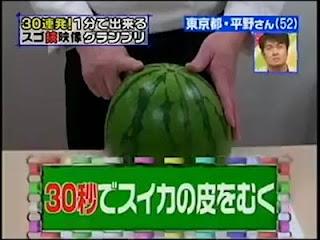 Peel Watermelon in 30 Seconds!