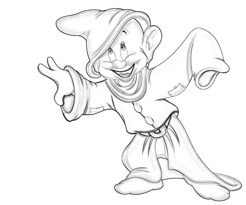 coloring pages of dopey - photo#36