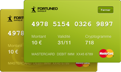 Cartes virtuelles Fortuneo