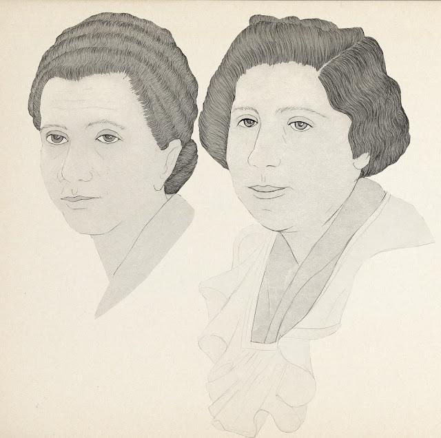 peinados, años treinta, dibujo