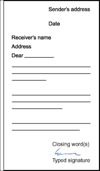 Business Letter Format - Slim Image
