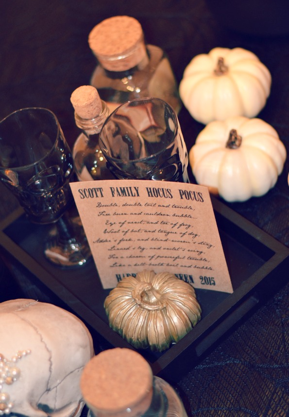 pumpkin and goblet centerpiece by Cordier Events