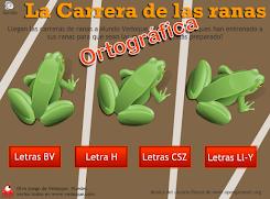La carrera de las ranas ortográficas