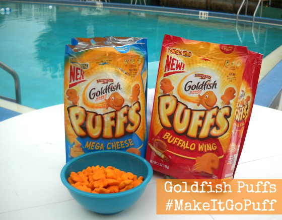 Goldfish Puffs by the pool