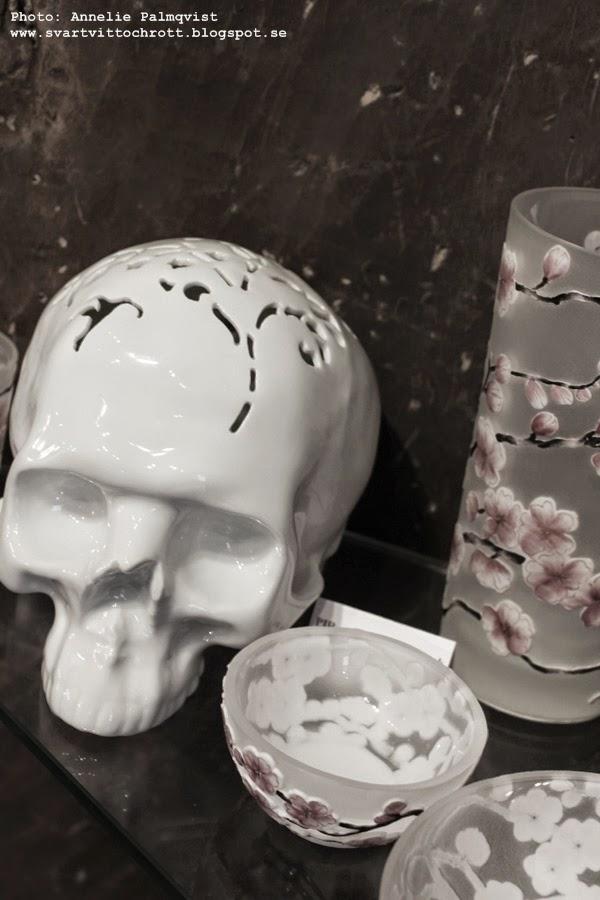 skull, porslin, vitt, design, prag, shopping, inredning,