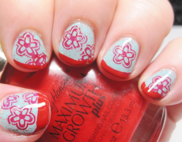 Twinkle Toes with red tip and flower stamp