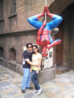 Osaka Universal Studios Japan Upside-down Spiderman