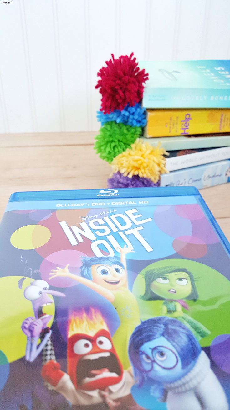 With the release of Inside Out on disc, you better believe I'm crafting up something awesome! Check out how you can make these cool and emotional bookmarks with poofy pom-pom memory orbs! The perfect way to bring a part of your favorite movie into your reading fun!