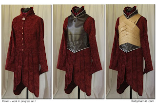 Lord Elrond chest armor pattern work in progress.
