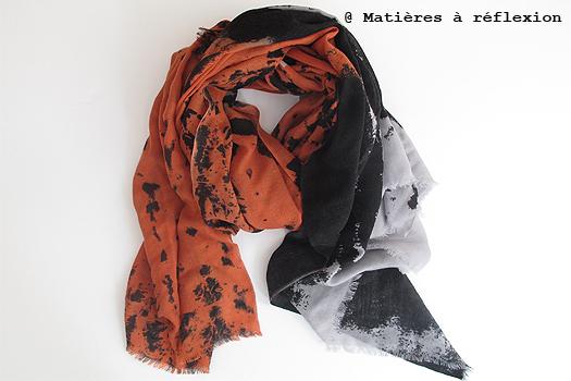 Mii foulard orange Dripping