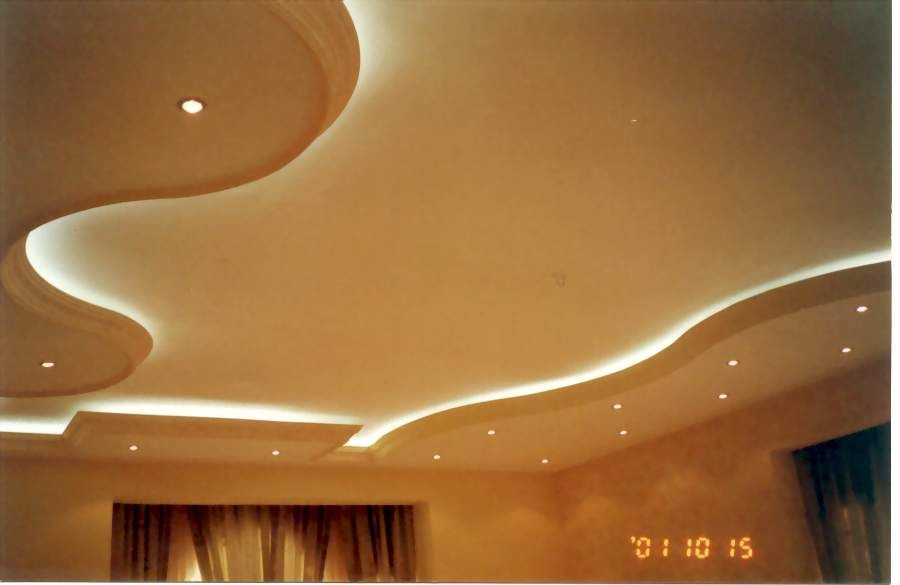 Home interior designs cheap new gypsum false ceiling for living new gypsum false ceiling for living room with side lights aloadofball Image collections