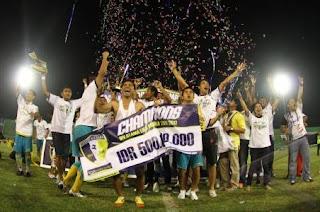 Pesta Barito Putera Juara Divisi Utama 2012