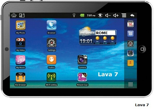 Lava 7 Android tablet