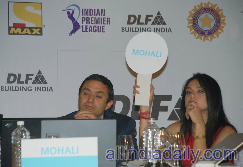 Preity Zinta and Ness Wadia at Inagural IPL Auction