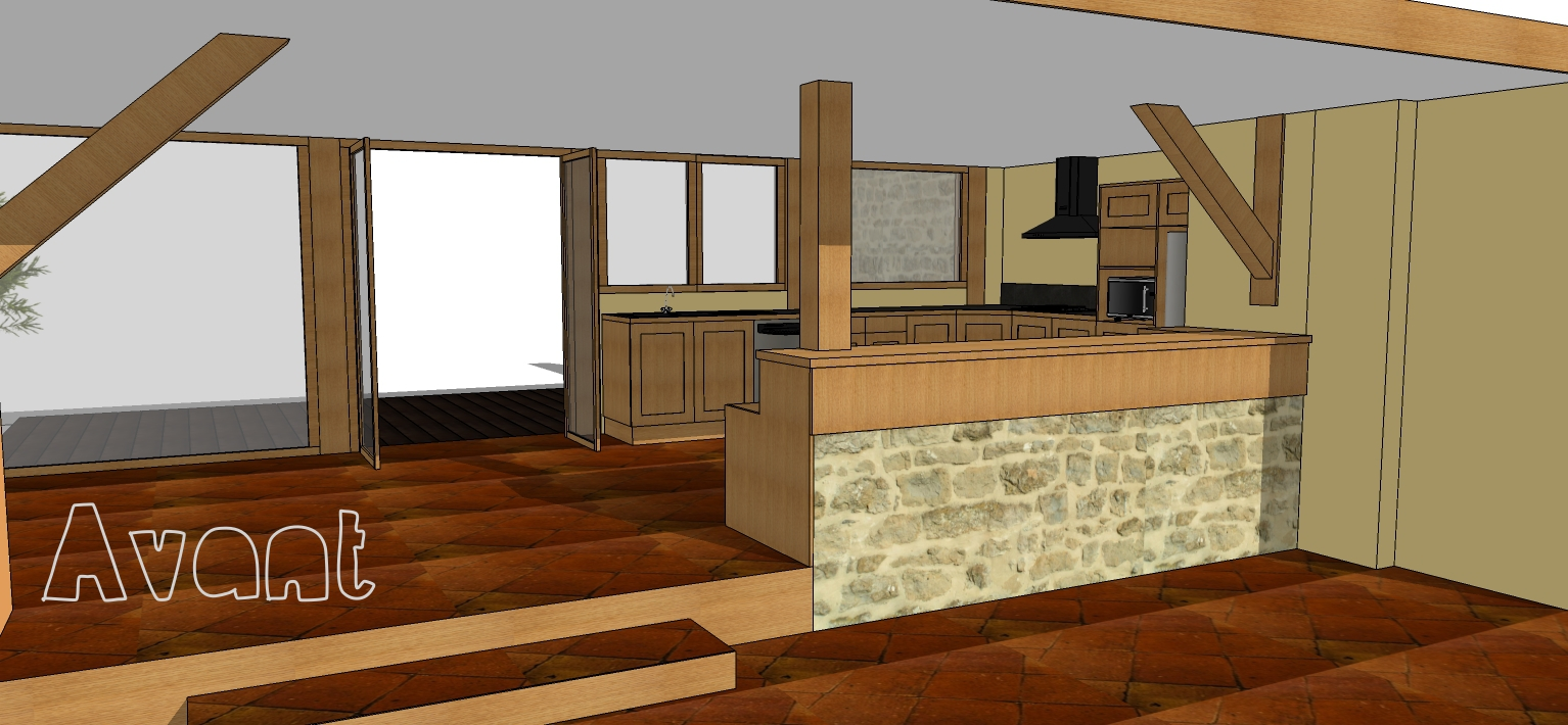 Nuances architecture design d 39 int rieur projets en for Bar interieur maison