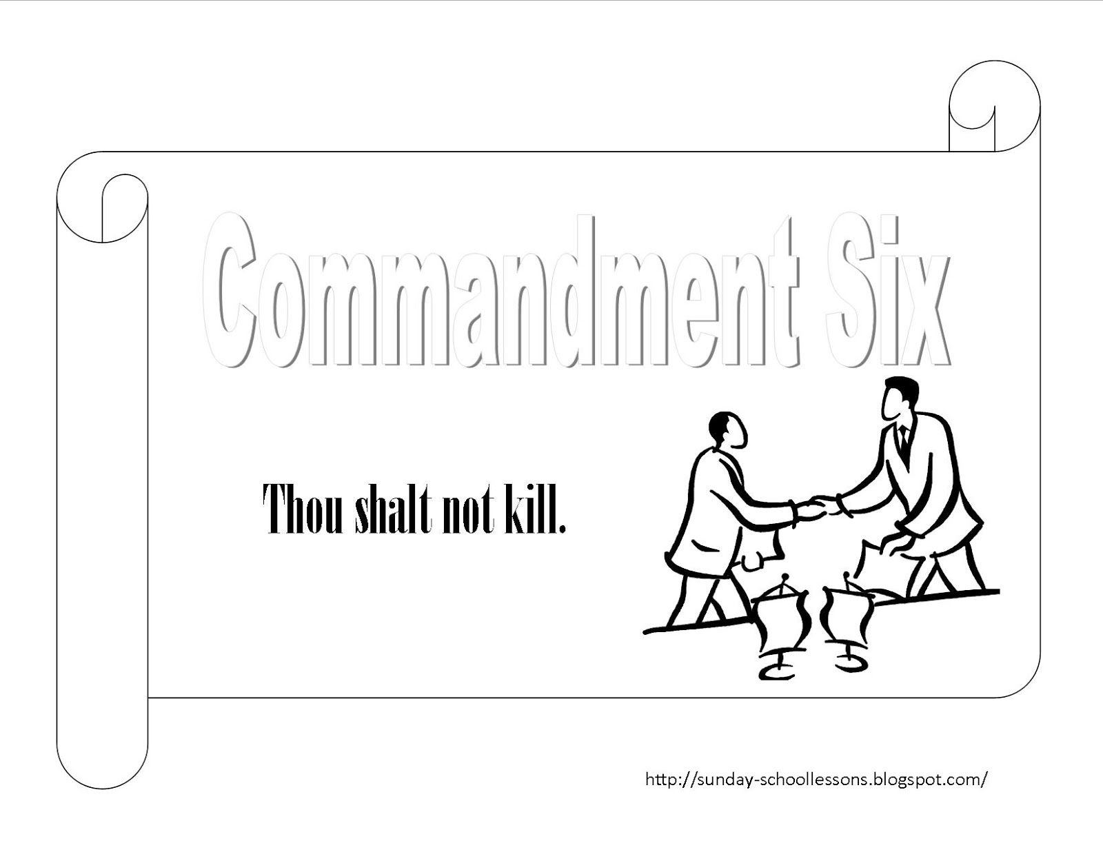 Commandment Five Kill Coloring Page