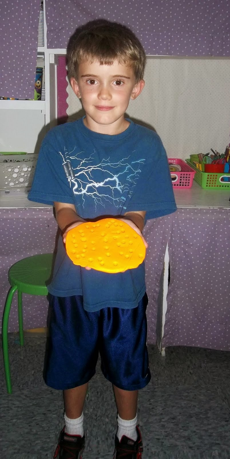 Jonas creating with the play dough