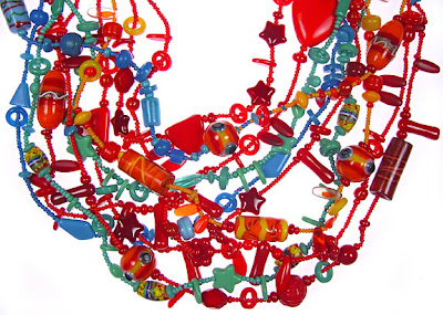 beaded necklace by Robin Atkins, Festive Time