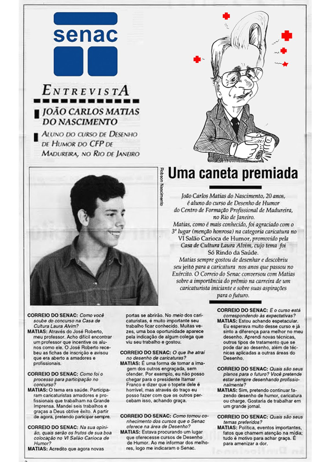 DESDE 1993 MESMO!  Jornal Correio do Senac/1993
