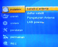 tampilan menu receiver matrix Prolink HD Ethernet