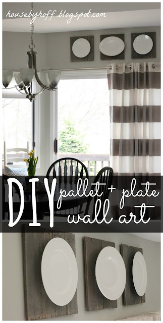 Pallet & Plate Wall Art via housebyhoff.com