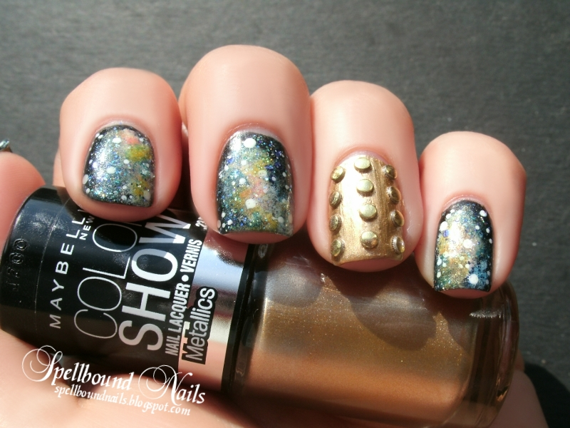 nails nail art polish manicure mani Dalek Doctor Who Galaxy stars glitter shimmer