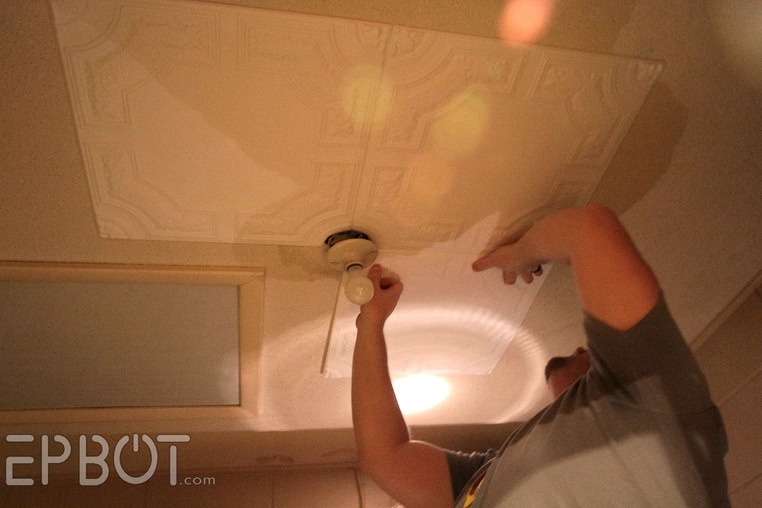 Epbot diy faux tin tile ceiling dailygadgetfo Gallery