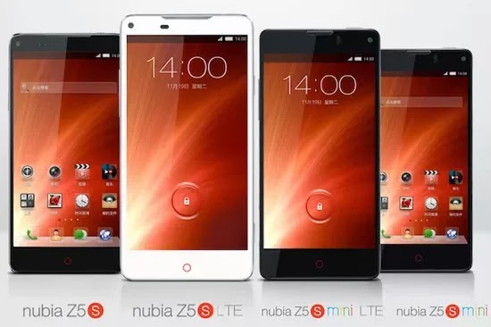 ZTE amplía su gama de teléfonos en España con ZTE Nubia Z5S y Z5S mini