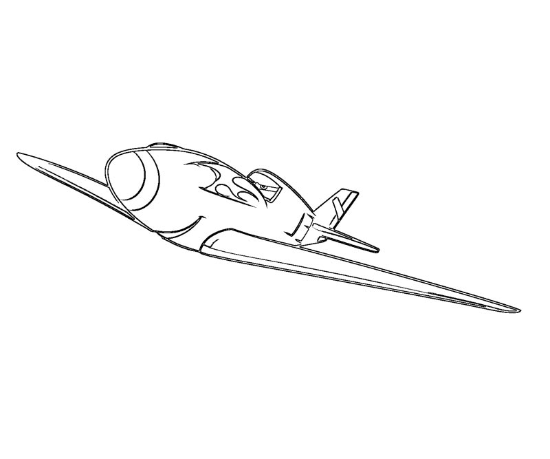 Disney Planes Coloring Pages : Ripslinger coloring pages