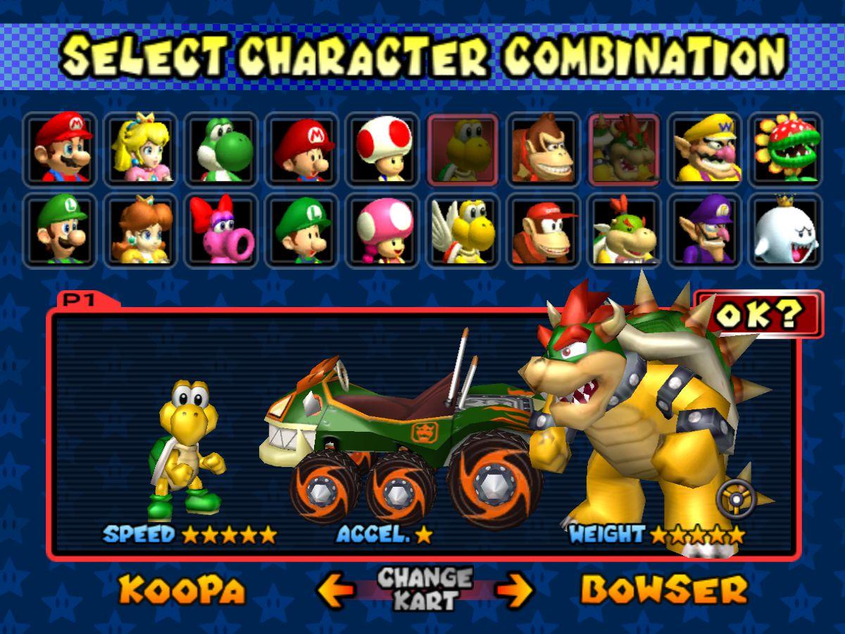Mario Kart All Characters