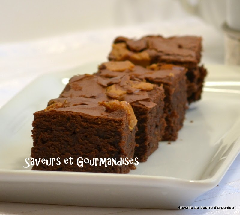 Brownies au Beurre d'Arachide de Lorraine Pascale. Wheat free peanut butter brownies.