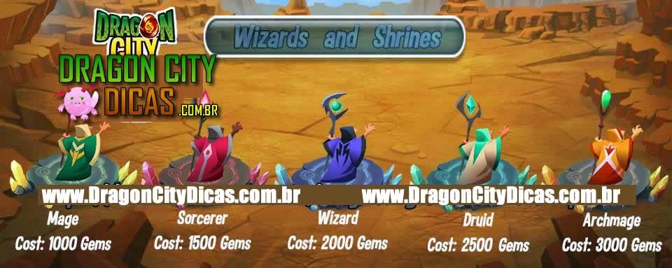 Os Feiticeiros ( Magos ) do Dragon City!