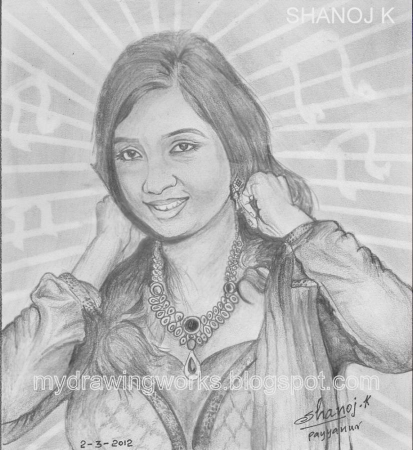 Happy birthday shreya ghoshal pencil drawing rainbow the colour of life