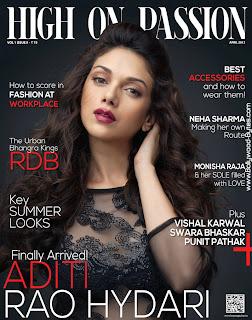 Gorgeous Aditi Rao Hydari Cover Girl High On Passion April 2013