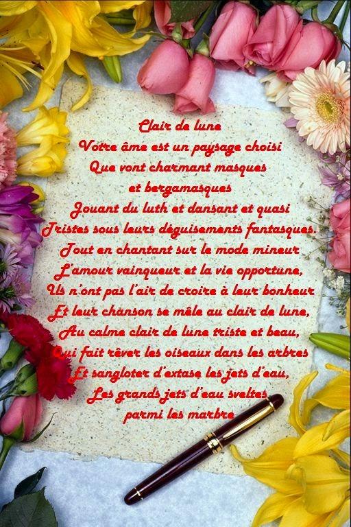 Jolie poème d'amitié Verlaine