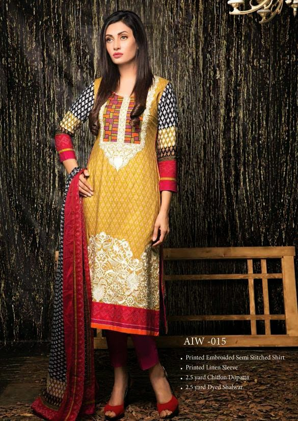 Amna Ismail Fall Winter Dress Collection 2014-2015