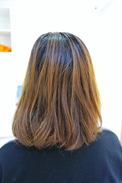 hair before Japanese perm
