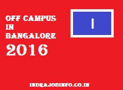 Off Campus in Bangalore 2016