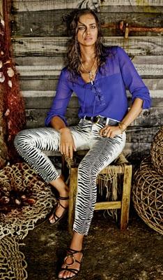 calça e camisa coleção Cavalli para C&A