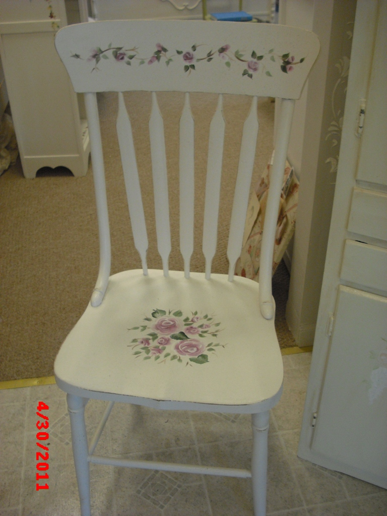 Antique hand painted chair - Handpainted Furniture New Arrivals, Shabby Chic Vintage Painted