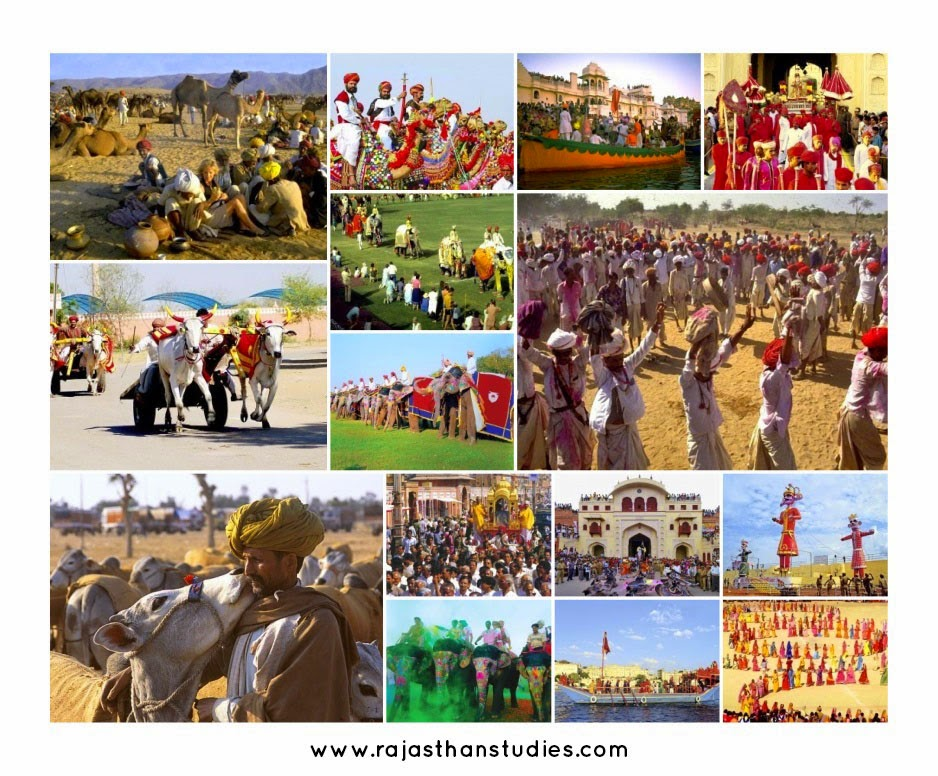 Rajasthan Fairs  Collage - Plan a Holiday or Tour to Rajasthan