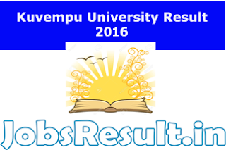 Kuvempu University Result 2016